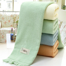 High Quality Soft Tassel 100% Cotton Towel Sets Bamboo Beach Bath Towels for Adults Luxury Brand High Quality Soft Face Towels(China)