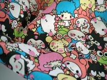 90*143cm patchwork Canvas fabric Sanrio Cartoon Melody HelloKitty cotton fabric for Tissue Kids bag shoe DIY handmade materials