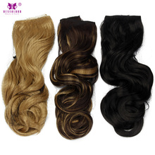 "Neverland 22"" Wavy Synthetic One Piece Clip In Hair Extensions Long Hair Hairpiece for Women 6 Colors(China)"