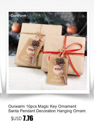 Ourwarm 18 DIY Felt Christmas Tree Pendant Drop Ornaments New Year Gift for Children Kids Door Wall Hanging Xmas Decoration 15