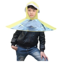 Best UFO Cap Umbrella Automatic Folding Umbrella Children Umbrella Hat Creative Gifts Umbrella Student Woman Man Rain Hat (yel(China)