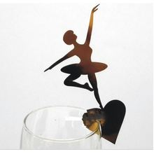 100pcs Lacer Cut Paper Ballet Girl  cards Table Paper Wine Glass Cup Card Escort Table Mark for Wedding Party Home Decorations