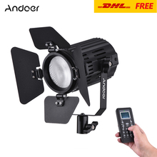Andoer LS-60D Daylight 5600K LED Ring Light Video Light Photographic Lighting Color Temperature Output Remote Controller