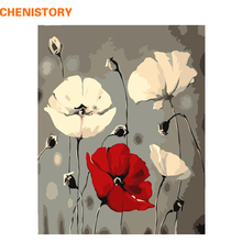 CHENISTORY No Framed Abstract Flowers DIY Painting By Numbers Modern Wall Art Picture Handpainted Painting & Calligraphy 40x50cm(China)