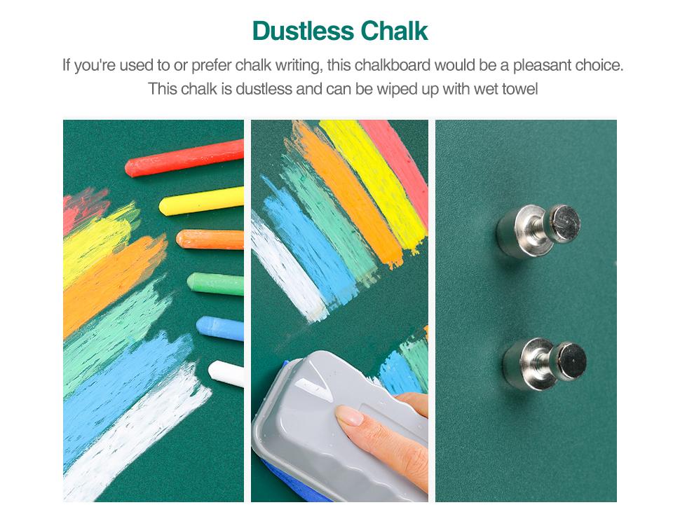 05 Wall Sticker Chalkboard flexible Chalk Board Ferrous Teaching Self-adhesive Board Green Board Color Hold Magnets Wall Decor