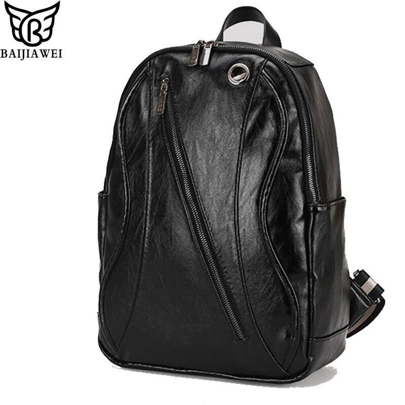BAIJIAWEI Fashion Shape Patent Leather Men Backpack Exquisite Craftsmanship Business Backpacks For Men Durable Casual Mochila<br><br>Aliexpress