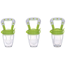 Green Baby Pacifier Funny Nipple Soother Nipples Fresh Food Nibler Fruit Feeder Feeding Tip Teat Pacifier for Babies