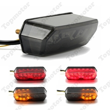 Motorcycle Parts Integrated LED Tail Stop Turn Signals Light Integrated For 2013 2014 2015 2016 Honda Grom 125 MSX Smoke