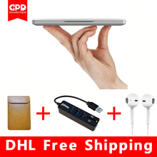 New Original GPD Pocket 7 Inch Aluminum Shell Mini Laptop UMPC Windows 10 System CPU x7-Z8750 8GB/128GB notebook( Silvery)