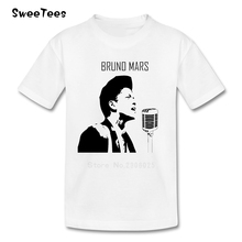 Bruno Mars Boys Girls T Shirt Crew Neck Tshirt children's Costume 2017 Discount Up Town Funk that's What I Like T-shirt For Kids(China)
