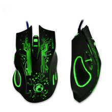 Professional 2400DPI LED Optical 6D USB Wired Gaming Game Mouse For PC Computer Laptop Game For Windows XP/Windows 7/ Windows 8(China)