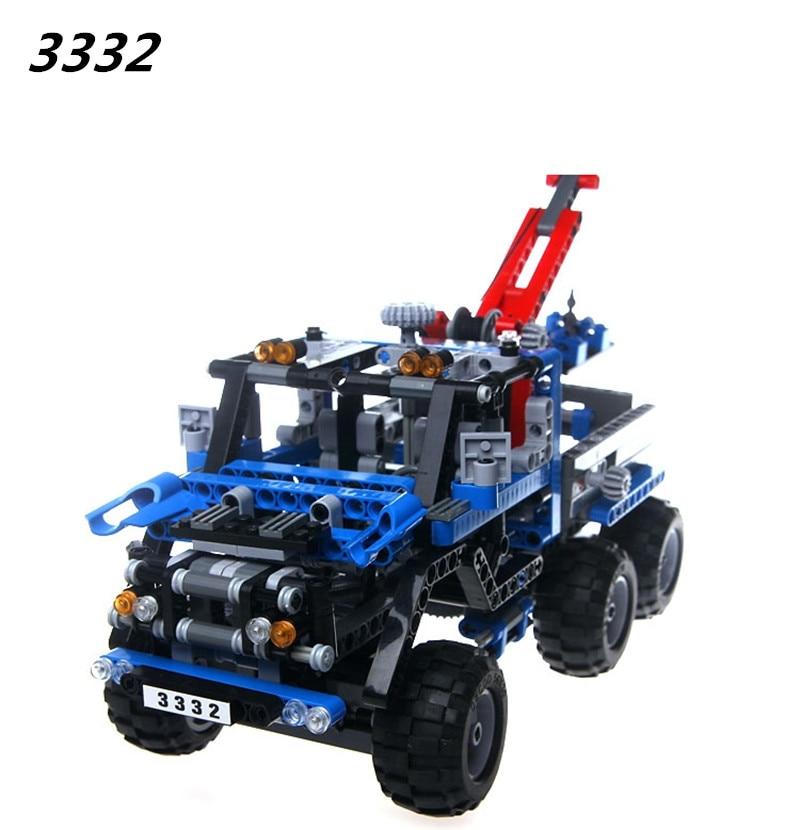 DECOOL Free Shipping 3332 LARGE 678Pcs Exploiture Crane model Enlighten Plastic building blocks sets educational children toys<br>