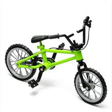 Mini Finger Bmx Toys Mini Bicycle Mountain Bike Fan Interest Toys Collections Decor With Brake Green(China)
