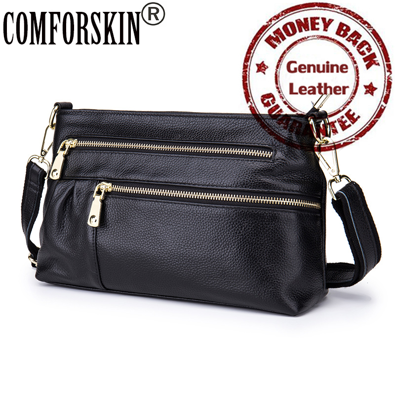 2017 Luxury Genuine Soft Leather Women Messenger Bag Brand New Simple Large Capacity Ladies Should Bag Factory Price On Sales<br><br>Aliexpress