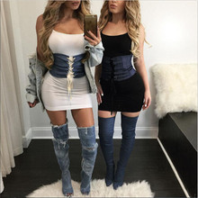 Women's Wide Belts Elastic Stretch Studded Zipper Cinch Corset Belt Slim Waistband Women Sexy Accessories