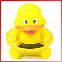 Cute Duck Shape Thermometer Baby Infant Bath Tub Water Temperature Tester Toy(China)
