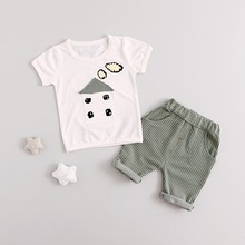 3 Colors Summer Cotton Baby Boys Clothing Newborn Infant Sets Cute Little House Two Piece Children Toddler Clothes Babies Gifts(China)