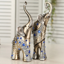 Elephant DecorationLovely Mom Child Elephant Crafts Furniture Decorative Crafts Elephant Ornaments Resin Artware Home Decor
