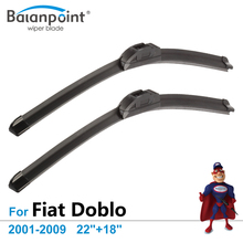 "Wiper Blades for Fiat Doblo 2001-2009 22""+18"", Set of 2, Exact Fit Windscreen Wipers"