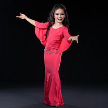 Children child Bellydance oriental Belly Indian gypsy dance dancing costumes clothes bra belt scarf ring skirt dress set suit 17
