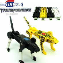 new Transformers robot USB Flash Drive machine dog pen drive  4GB 8GB 16GB 32GB u disk pendrive memory stick cool gift  usb 2.0