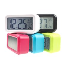 New Digital Clock with LED Light Smart Snooze Alarm Clock Multi-function with Snooze+Back light+Calendar Alarm Clocks