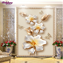 beibehang papel de parede Custom advanced sound insulation better wall paper 3D three-dimensional luxury gold jewelry wallpaper(China)