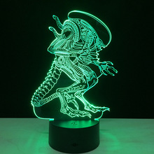 Acrylic 3D Led light Creative Atmosphere Table Lamp Strange people 7 color Touch Switch lamp Gradient Visual night lamp IY803368