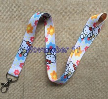 Lot 10Pcs Classic hello kitty Cartoon Mobile Cell Phone Lanyard Neck Straps Party Gifts MM918(China)