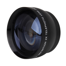 Top Deals 52mm 2X Magnification Telephoto Lens for Nikon AF-S 18-55mm 55-200mm Lens Camera