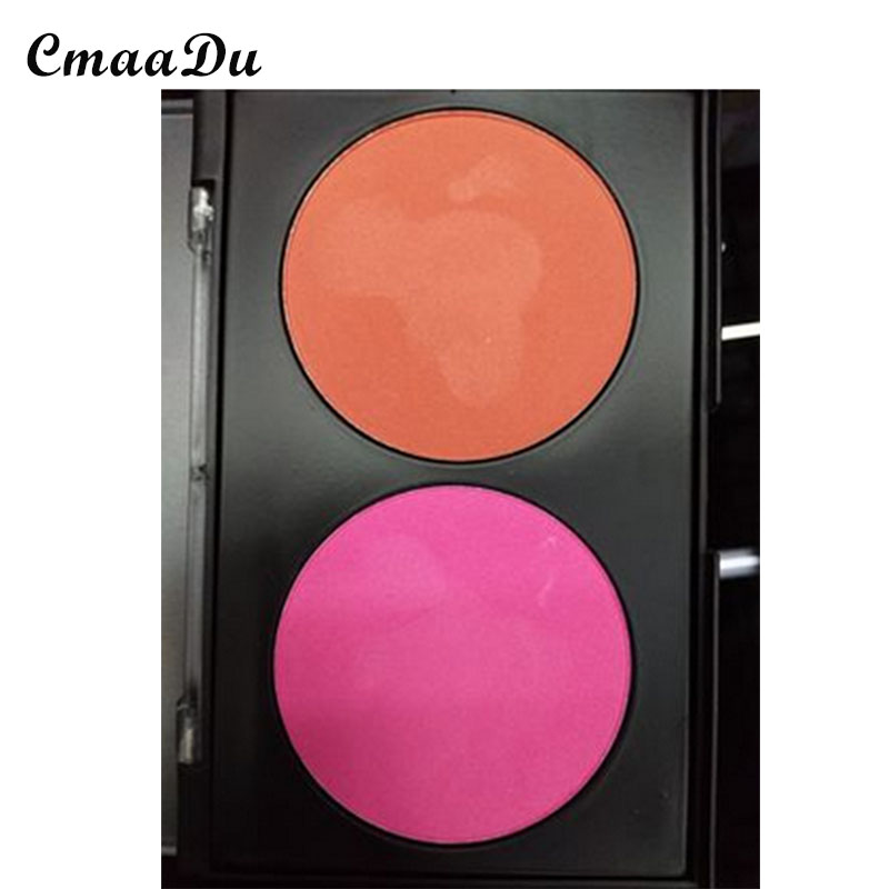 Cmaadu makeup dual color rouge blush red and red to add natural and persistent skin color facial makeup for beauty & health(China (Mainland))