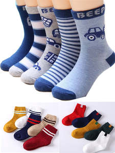 Cotton Socks Multi-Color-Sock Spring Anti-Skid Floor Girls Autumn Winter Children's And