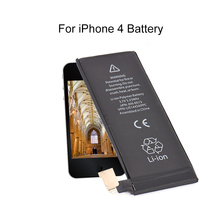 Mobile Phone Built-in Lithium Battery For iPhone 4 High quality 1420MAH Phone Battery 100% new with high capacity For iphone 4(China)