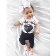 2017 Casual Newborn Infant Baby Boys Girls Black Bestie Cotton Romper Jumpsuit Outfits(China)
