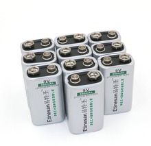 10pcs/lot Etinesan550mAh 9v li-ion lithium Rechargeable 9 Volt Battery Original good quality long lasting(China)