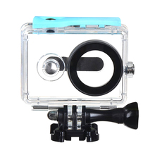 For Xiaomi Yi Waterproof Case 40M Underwater Diving Sports Waterproof Box For Xiaomi yi Action camera ( Blue color )(China)