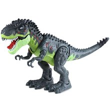 Hot Sale Realistic Dinosaur World Flashing Plastic Tyrannosaurs Toy Gorgeous Gift Electronic Dinosaur Toys For Children Kids(China)