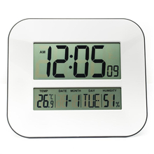 Big Number LCD Digital Wall Clock Table Desktop Alarm Clock with Temperature Thermometer Humidity Hygrometer Snooze Calendar(China)