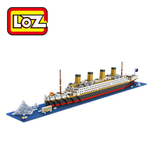 LOZ Building Blocks Toys RMS Titanic Ship 3D Building Blocks Toy Titanic Boat 3D Model Educational Gift Toy for Children