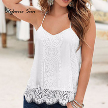Summer Women Sexy Loose White T-shirt Casual Sleeveless Black Vest Shirt Tank Tops Camis