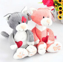 candice guo! Newest arrival super cute Nici plush toy couple cat love heart cat stuffed doll lover birthday gift 1pc