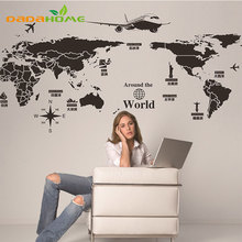 Creative personality World Map Mural Wall Decorations Living Room Roomsticker Bedroom Wall diy art Home Decoration Wall Sticker