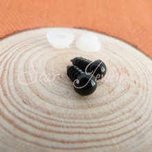 full black color plastic safety 10mm toy eyes with white washer for toy bear findings /100pcs/lot (not 100 pair)/#gs(China)