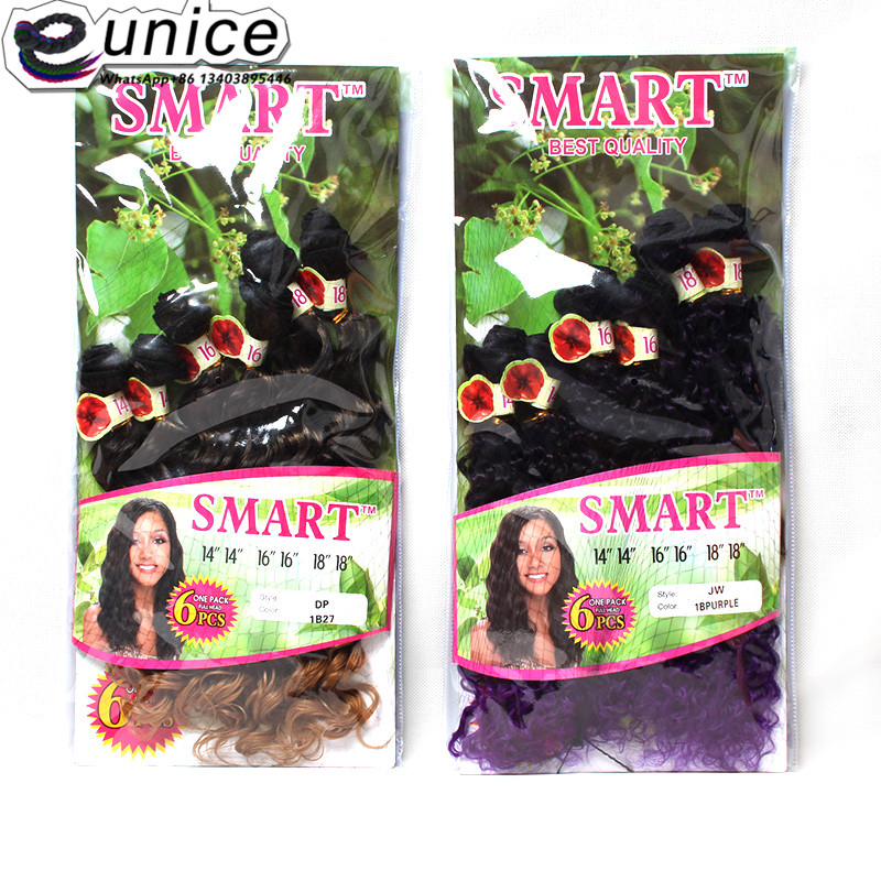 Jerry Curly Weave Hair Extension Sew in Synthetic weaving Wefts (10)