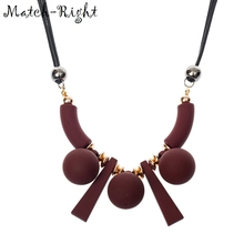 Match-Right Women Necklace Statement Necklaces & Pendants Wood Beads Necklace For Women Jewelry SP005