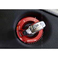 Car ignition circle decoration decal Interior Key hole trim ring for Mercedes Benz GLA X156 CLA C117 A class auto acessories