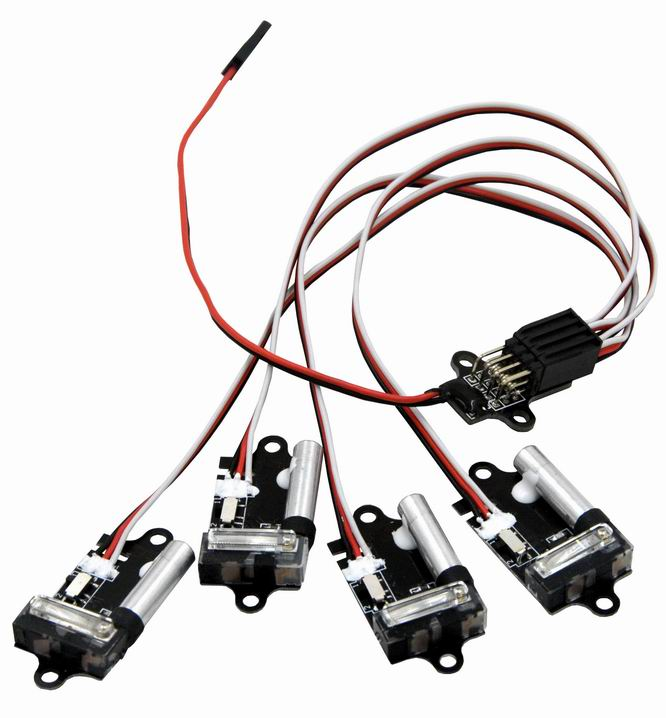1pc Super High Brightness Xenon Burst Light Auto Strobe Flash 2 modes for Fpv Multicopter strobe light 4 Xenon lights<br>