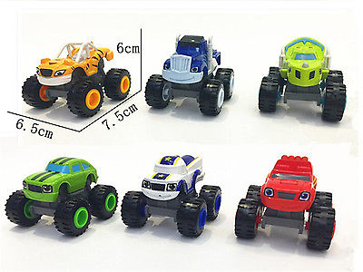 1 x Vehicle with Box Blaze and the Monster Machines Vehicles Diecast Toy Racer Cars Trucks Kid(China (Mainland))