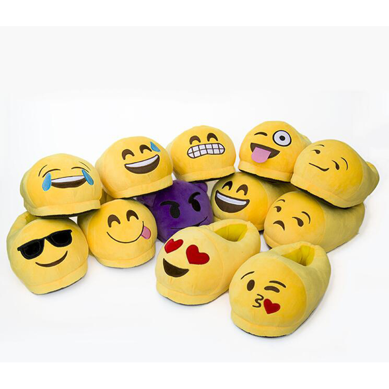Shining Emoji Slippers Cartoon Plush Slipper Home With The Full Expression Women/ Men Slippers Winter House Shoes One Pair z423<br><br>Aliexpress
