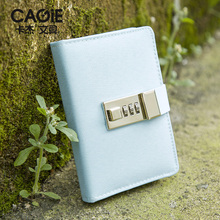 Cagie 2017 New School Hardcover Notebook Kawaii Cloth Cover With Lock Diary Sketchbook Planner Agenda Traveler Cute Journal(China)
